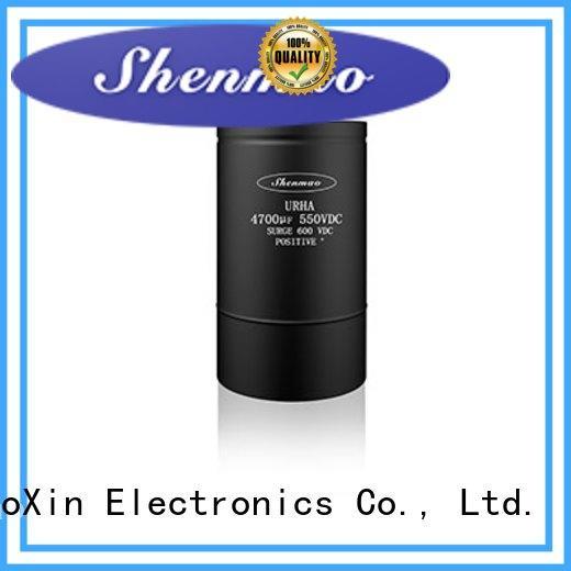 Shenmao low esr aluminum electrolytic capacitors oem service for DC blocking