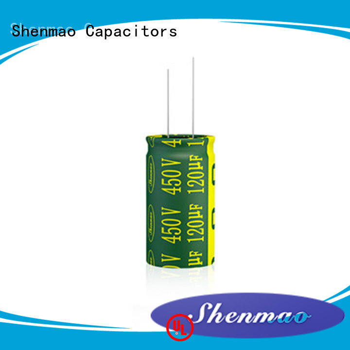 Shenmao 10uf 450v radial electrolytic capacitor overseas market for timing