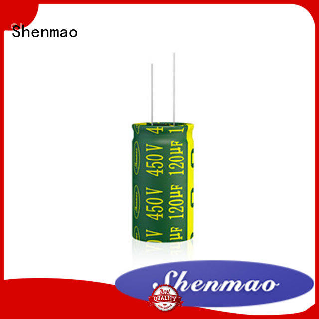 Shenmao radial electrolytic capacitor owner for DC blocking