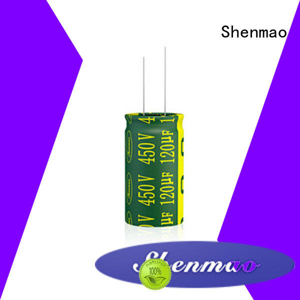 Shenmao high quality 1000uf 25v radial electrolytic capacitor supplier for energy storage