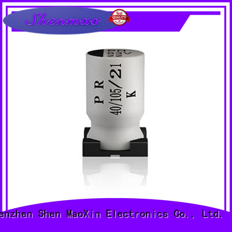 Shenmao stable smd aluminium capacitor supplier for energy storage