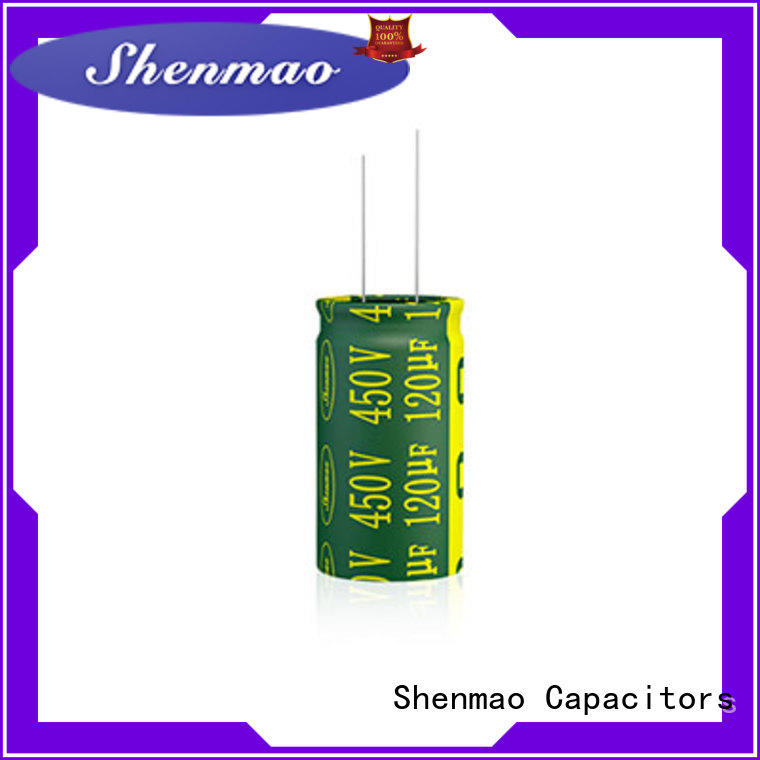 Shenmao radial can capacitor bulk production for timing