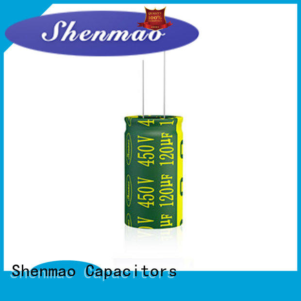 Shenmao radial can capacitor bulk production for tuning