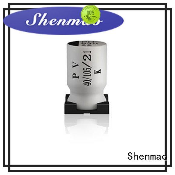 Shenmao smd aluminium capacitor marketing for tuning