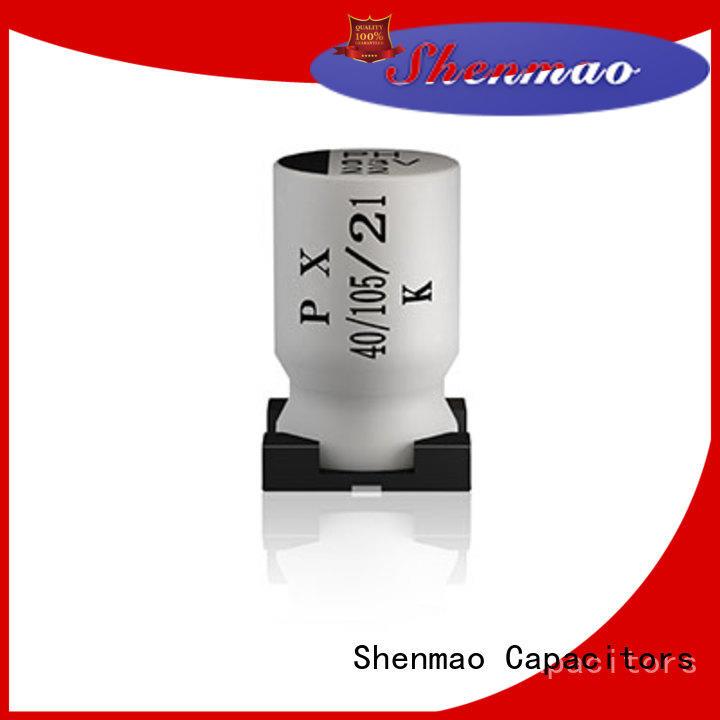 Shenmao smd aluminum electrolytic capacitor bulk production for filter