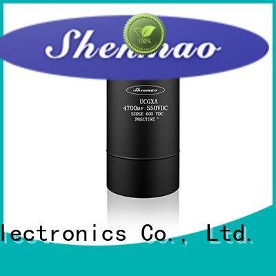 Shenmao low esr aluminum electrolytic capacitors owner for DC blocking