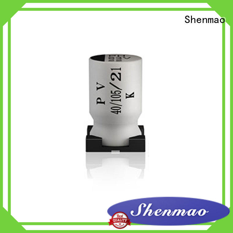 Shenmao 220uf smd capacitor overseas market for filter