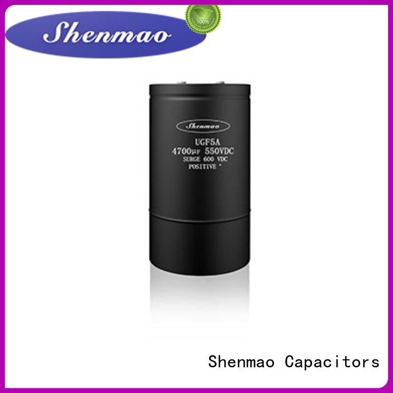 Screw Terminal Aluminum Electrolytic Capacitor overseas market for filter Shenmao