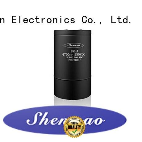 Shenmao high quality large electrolytic capacitor marketing for temperature compensation