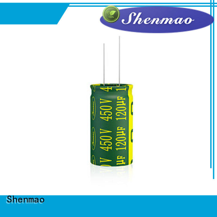 Shenmao 10uf 450v radial electrolytic capacitor supplier for filter