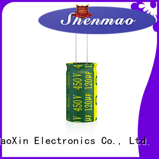 Shenmao satety aluminum electrolytic capacitor bulk production for temperature compensation