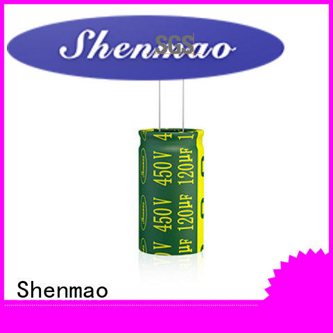 Shenmao durable 1000uf 25v radial electrolytic capacitor owner for temperature compensation