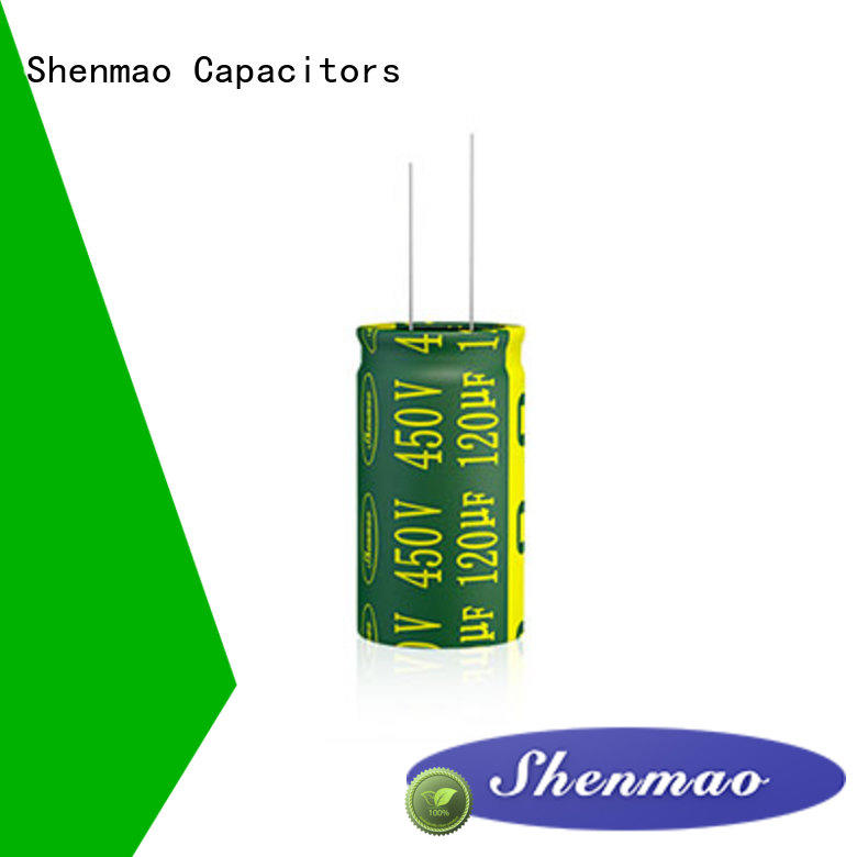 Shenmao durable radial lead capacitor bulk production for tuning