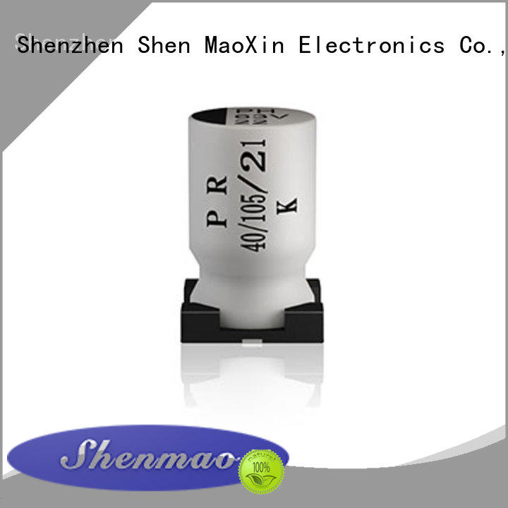 Shenmao advanced technology 220uf smd capacitor overseas market for temperature compensation