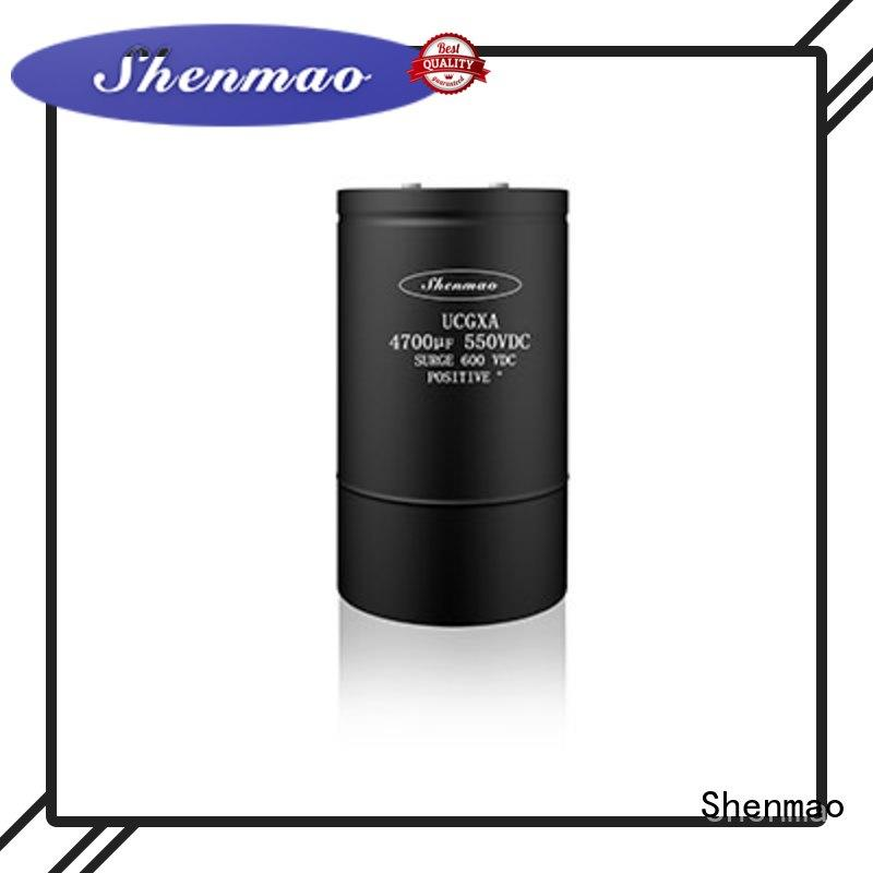 Shenmao low esr aluminum electrolytic capacitors oem service for filter