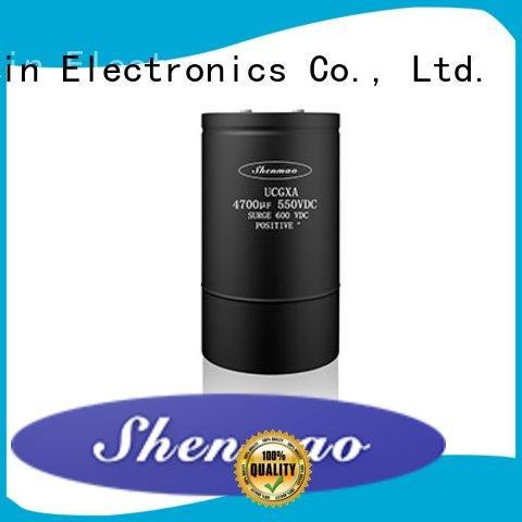 screw capacitor overseas market for DC blocking Shenmao