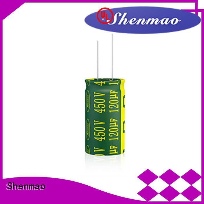 Shenmao durable radial electrolytic capacitor vendor for filter