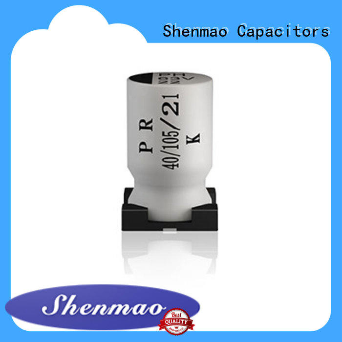 Shenmao professional 10uf smd electrolytic capacitor for temperature compensation