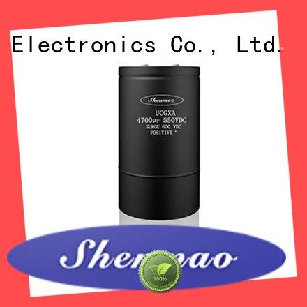 Shenmao professional polymer electrolytic capacitor owner for DC blocking