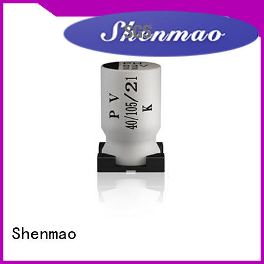 Shenmao stable smd electrolytic capacitor bulk production for filter