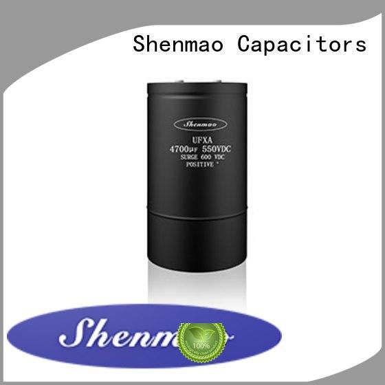 Shenmao advanced technology screw type capacitor overseas market for coupling
