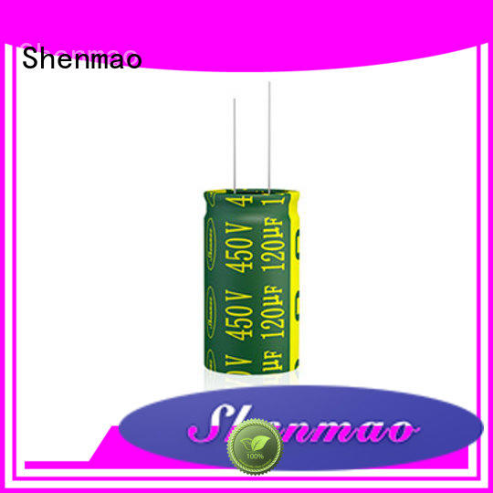 Shenmao radial can capacitor bulk production for energy storage
