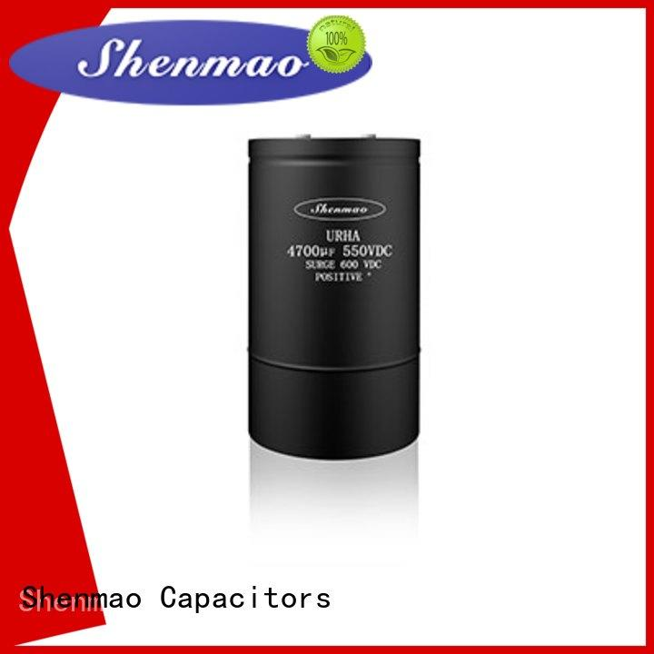 Shenmao screw terminal capacitors bulk production for rectification