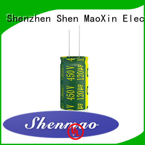 Shenmao radial can capacitor vendor for DC blocking