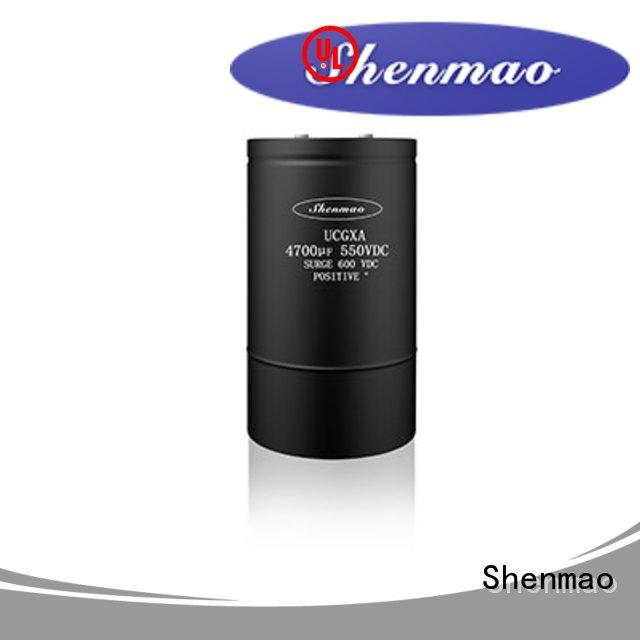 Shenmao professional Screw Terminal Aluminum Electrolytic Capacitor overseas market for energy storage