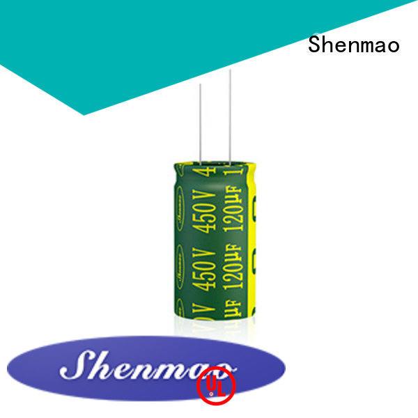 Shenmao 10uf 450v radial electrolytic capacitor overseas market for filter