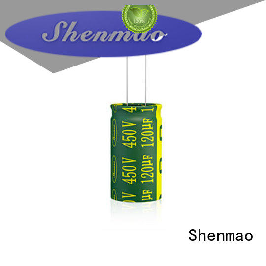 Shenmao radial can capacitor overseas market for DC blocking