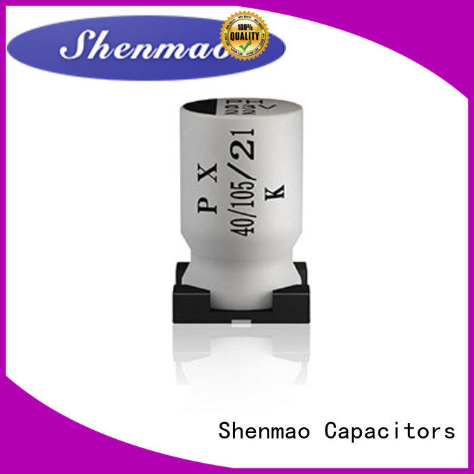 Shenmao competitive price 47uf smd capacitor owner for DC blocking