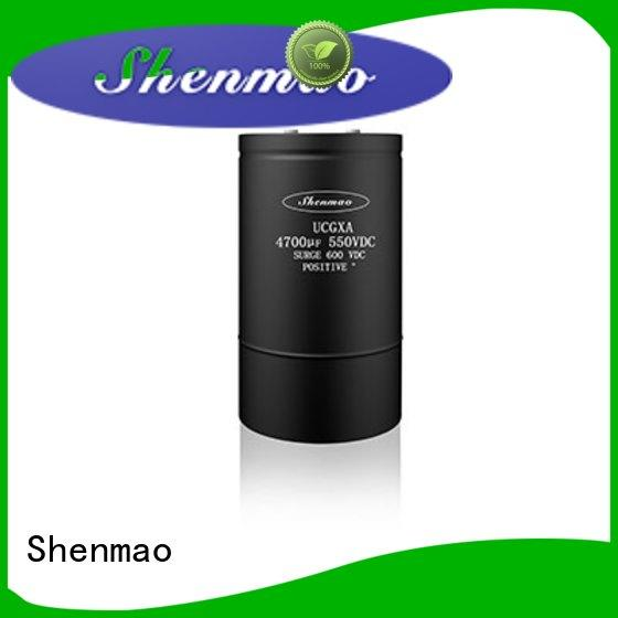 Shenmao competitive price aluminum capacitor manufacturers overseas market for DC blocking