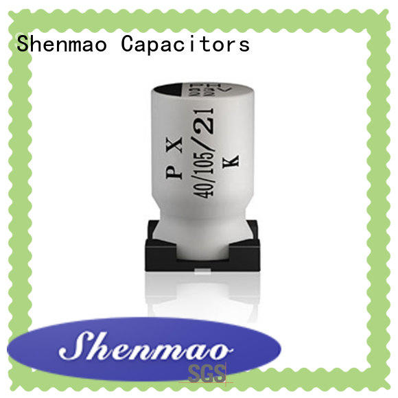 Shenmao good to use 220uf smd capacitor bulk production for temperature compensation