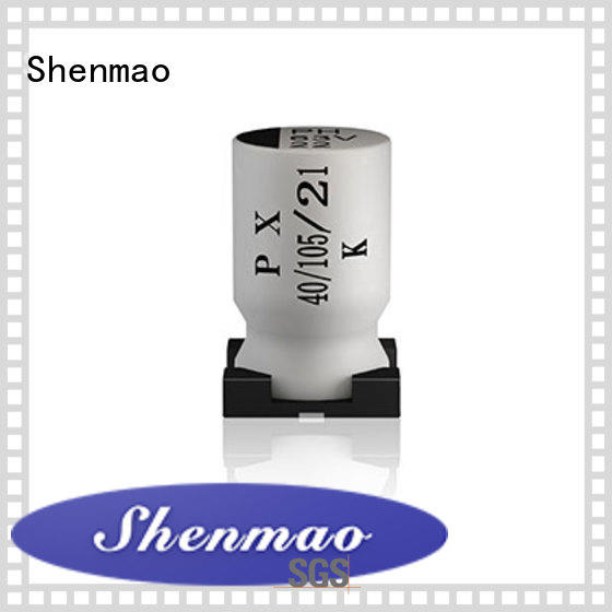 Shenmao 100uf smd capacitor oem service for DC blocking