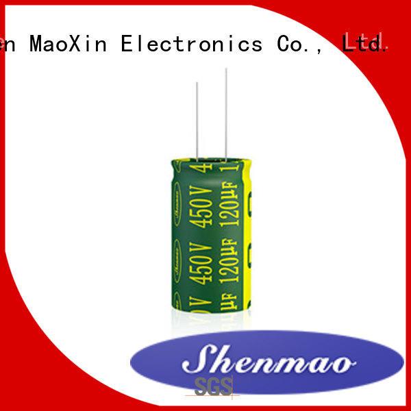 Shenmao radial aluminum electrolytic capacitors marketing for rectification