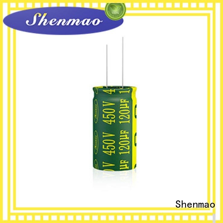 Shenmao radial type capacitor vendor for DC blocking