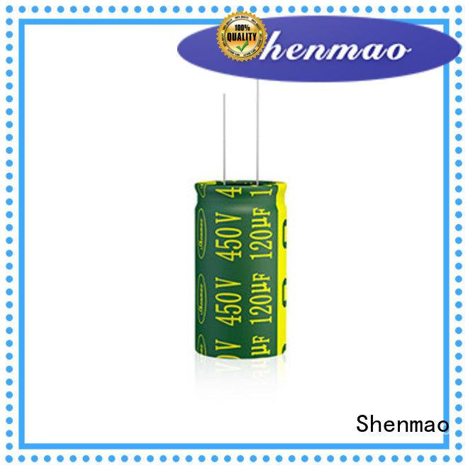 Shenmao 1000uf 450v radial electrolytic capacitors bulk production for DC blocking