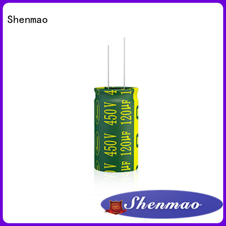 Shenmao 10uf 450v radial electrolytic capacitor bulk production for filter