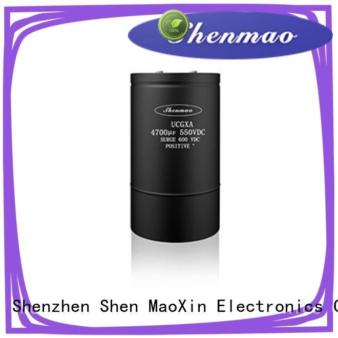 Shenmao energy-saving screw terminal capacitor marketing for DC blocking