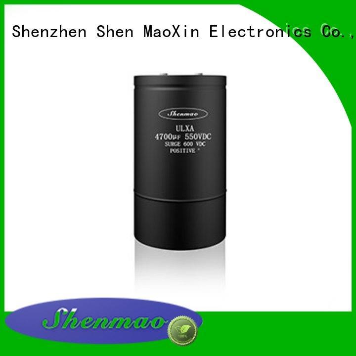 Shenmao energy-saving Screw Terminal Aluminum Electrolytic Capacitor supplier for temperature compensation