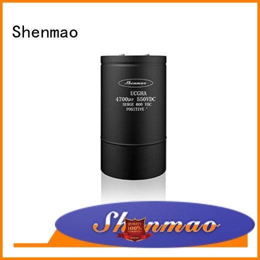 Shenmao screw terminal electrolytic capacitor vendor for rectification