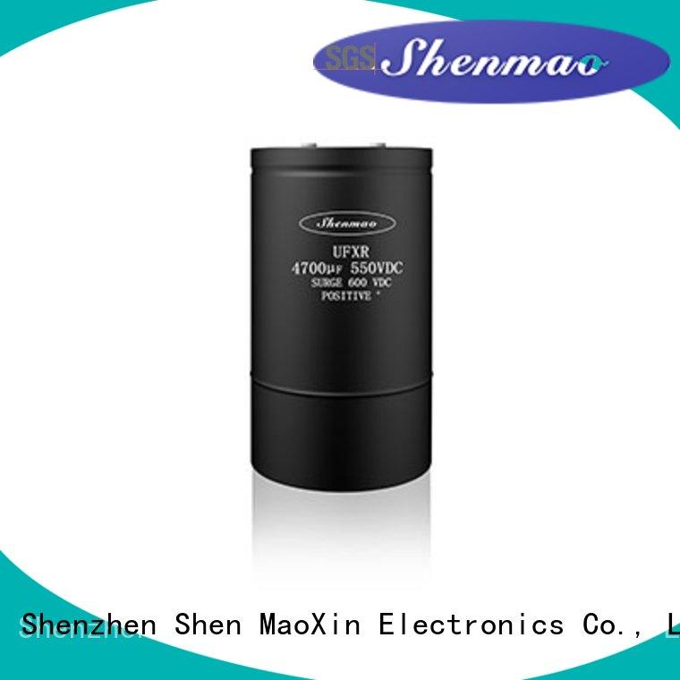 Shenmao screw type capacitor bulk production for timing