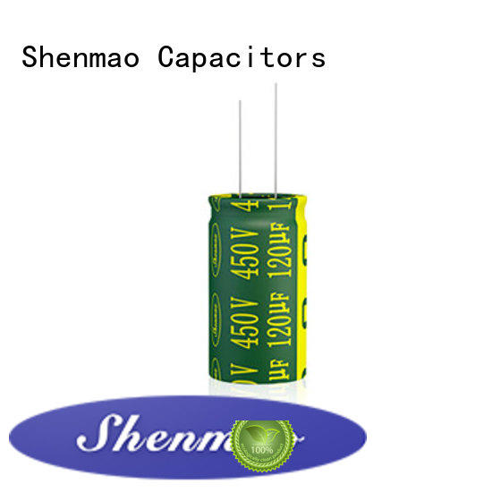 Shenmao 10uf 450v radial electrolytic capacitor marketing for temperature compensation