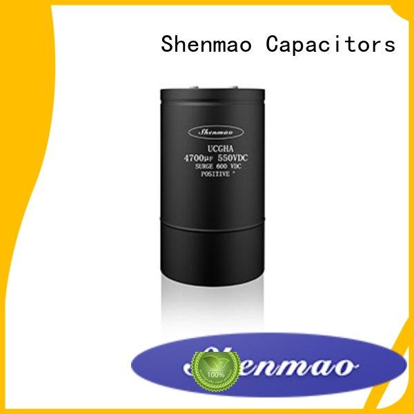 Shenmao stable screw terminal capacitor bulk production for filter