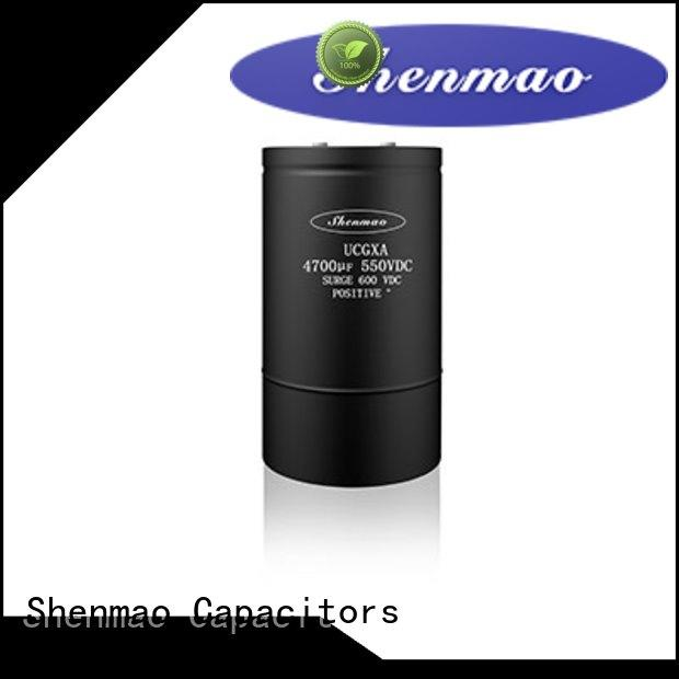 Shenmao Screw Terminal Aluminum Electrolytic Capacitor supplier for tuning