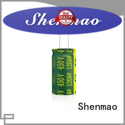 Shenmao durable 10uf 450v radial electrolytic capacitor bulk production for tuning