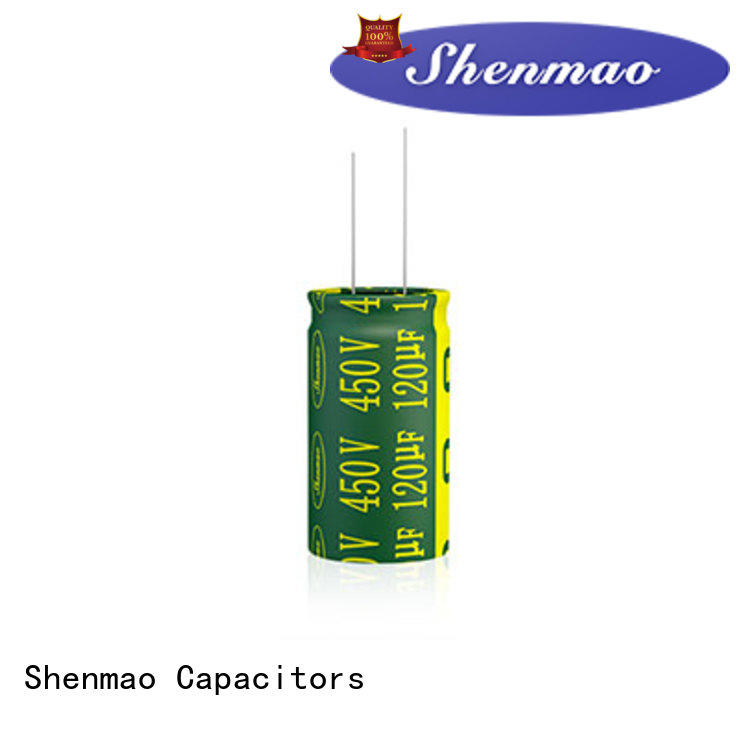 Shenmao radial can capacitor bulk production for filter