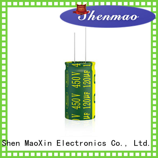 Shenmao easy to use high quality electrolytic capacitors for filter