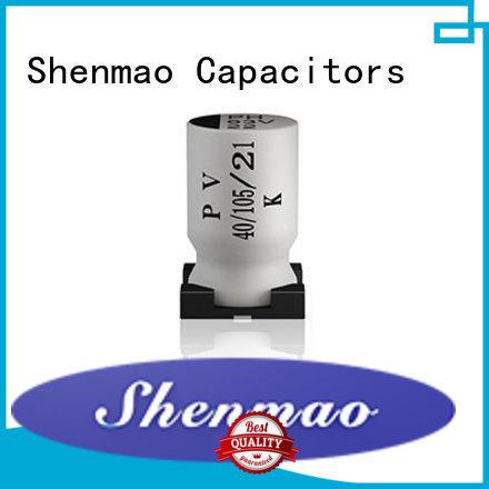 Shenmao stable smd aluminium capacitor vendor for tuning